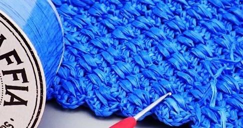 コットンラフィアをかぎ針で編む