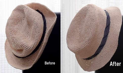 004 1 486x290 - 驚き!ぺしゃんこの帽子が簡単に復活!!一体どうやって!?