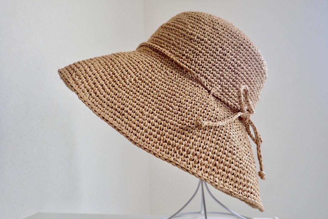htLXKiRwRAe8XAKqyVknhA thumb 87ea - 綿のように軽い!究極の手芸糸コットンラフィアで編んだ帽子!