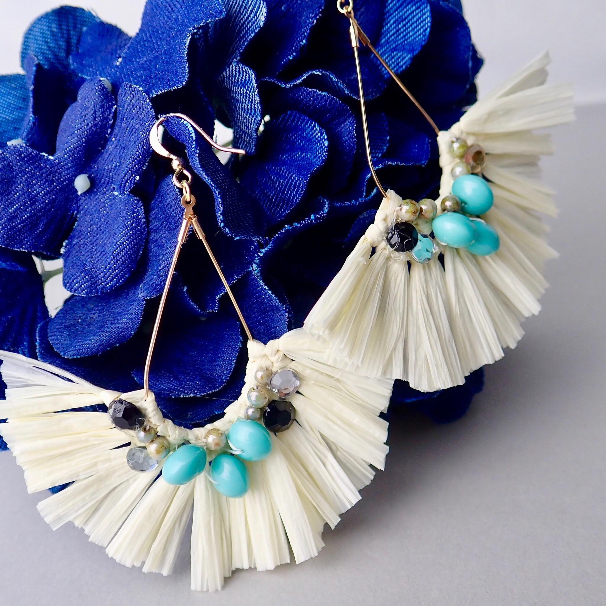 WechatIMG845 - 究極の手芸糸コットンラフィアはアクセも作れる❗❓